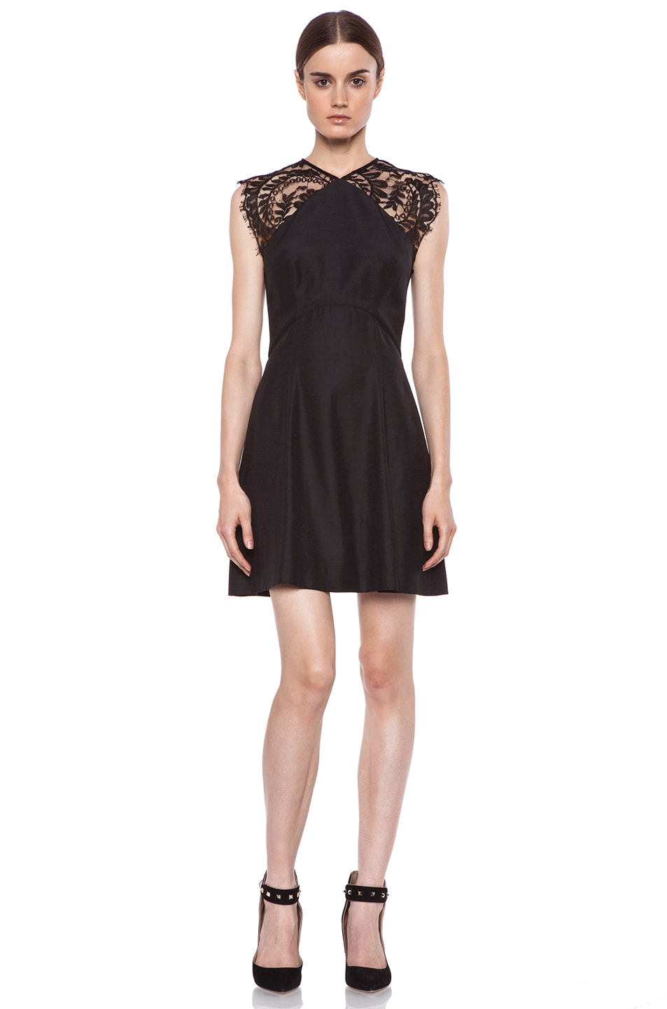 Image 1 of Lover Alice A-Line Viscose Dress in Black