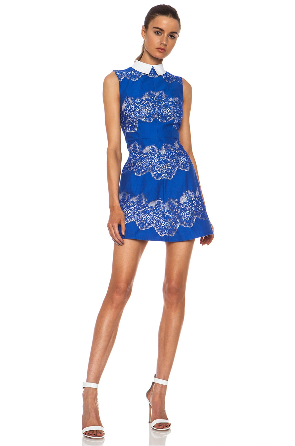 Image 3 of Lover Chelsea Nylon-Blend Dress with Removable Collar in Royal Blue