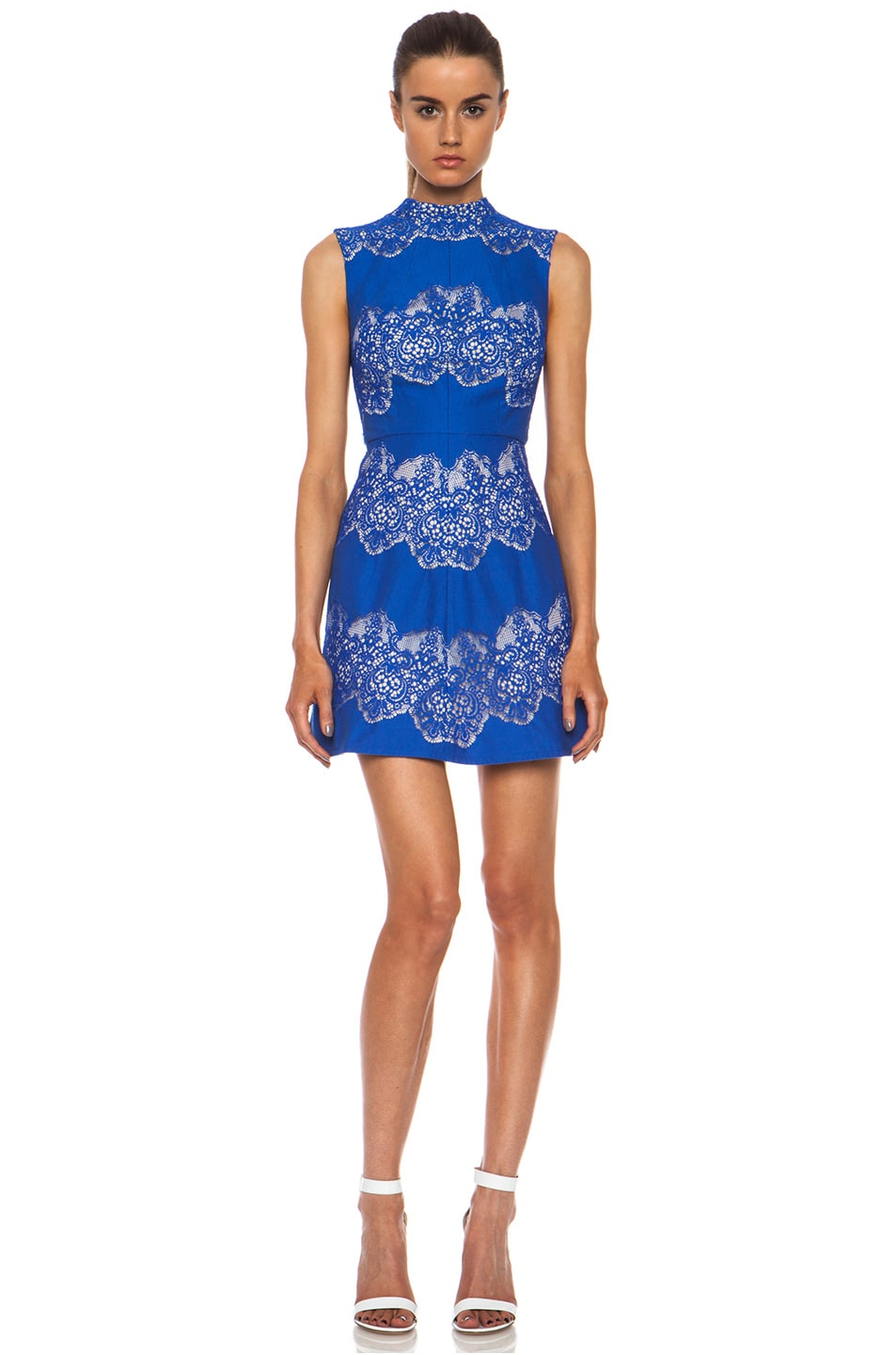 Image 4 of Lover Chelsea Nylon-Blend Dress with Removable Collar in Royal Blue