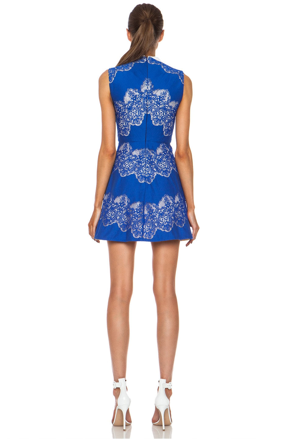 Image 5 of Lover Chelsea Nylon-Blend Dress with Removable Collar in Royal Blue