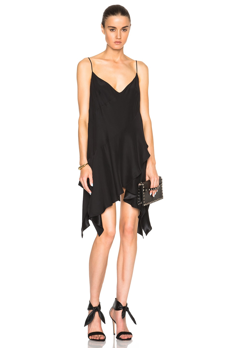 Image 1 of Lover V Slip Dress in Black