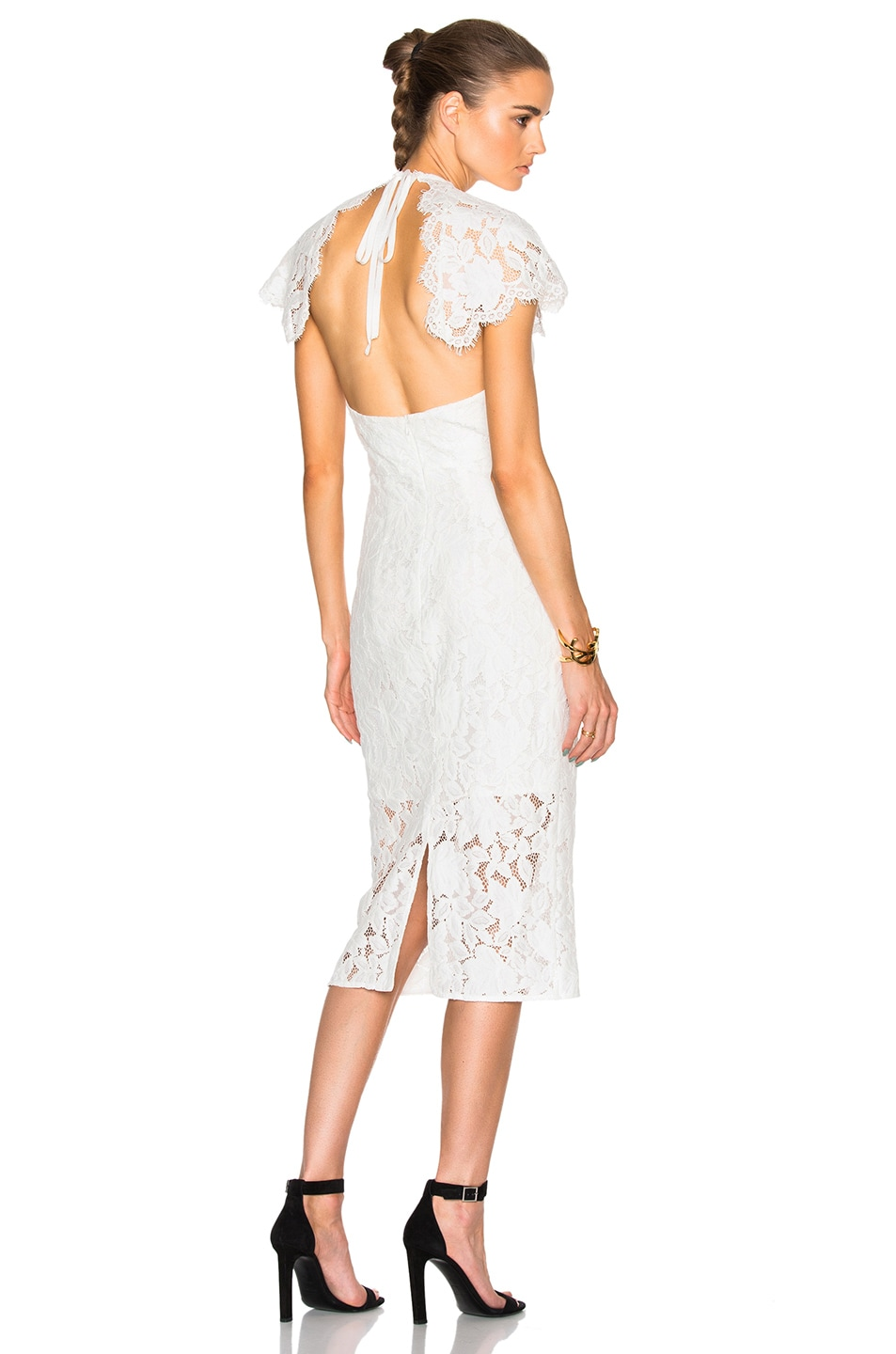 Image 1 of Lover Affinity Midi Dress in White
