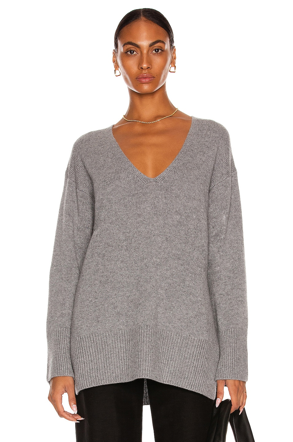 Image 1 of Lisa Yang Cashmere Victoria Sweater in Grey