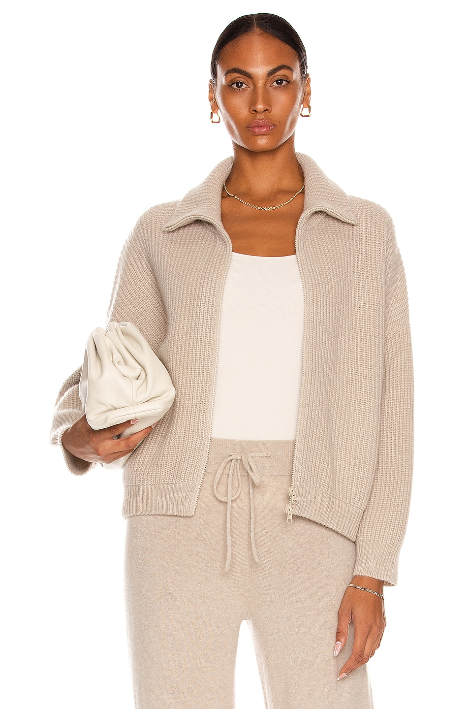 Image 1 of Lisa Yang Cashmere Mella Sweater in Sand