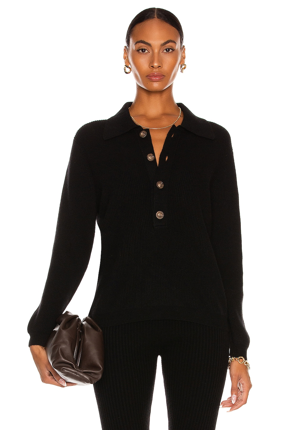 Image 1 of Lisa Yang Cashmere Ashley Sweater in Black