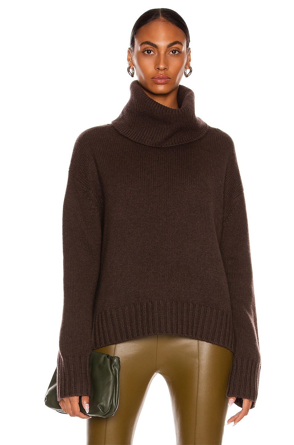 Image 1 of Lisa Yang Cashmere Lucca Sweater in Chocolate