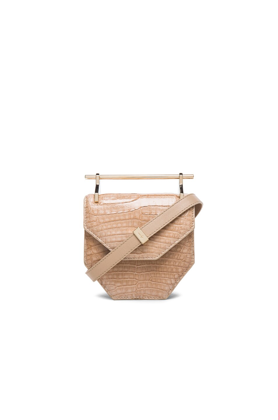 Image 1 of M2Malletier Mini Amor Fati in Croc Sand