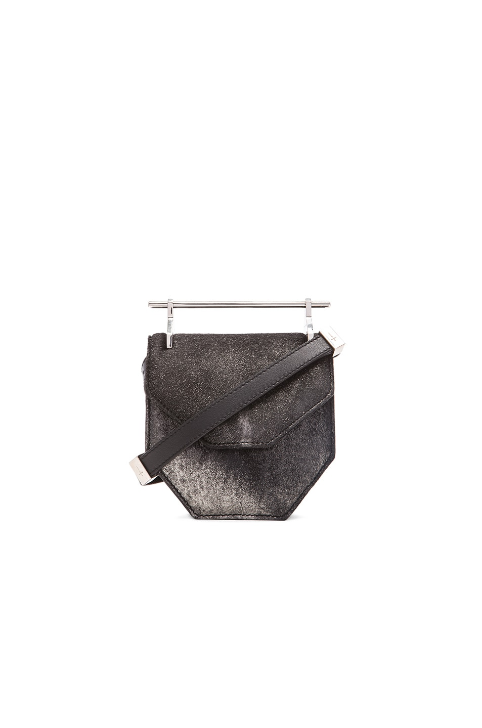 21adbffe7ca9 Image 1 of M2Malletier Mini Amor Fati Bag in Metallic Black Pony