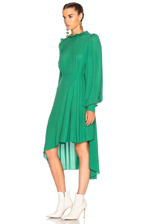 Image 3 of Magda Butrym Calgiari Dress in Green