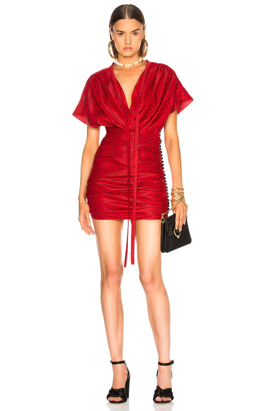 655df1a91d14 Image 1 of Magda Butrym Reno Dress in Red