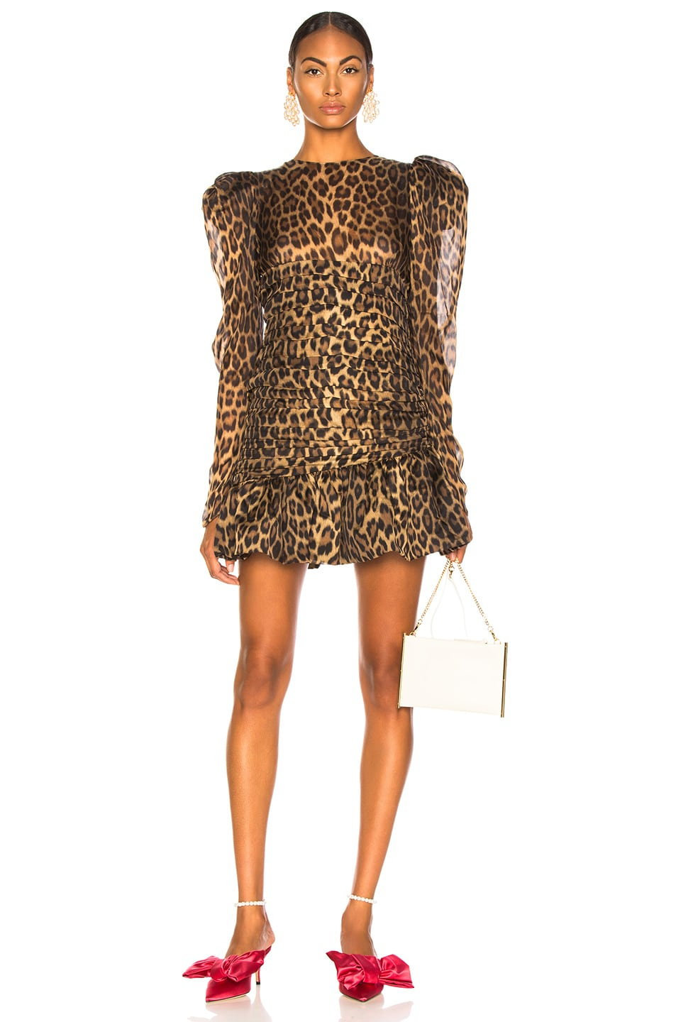 5d5a34a3c3ec Image 1 of Magda Butrym Borneo Dress in Brown