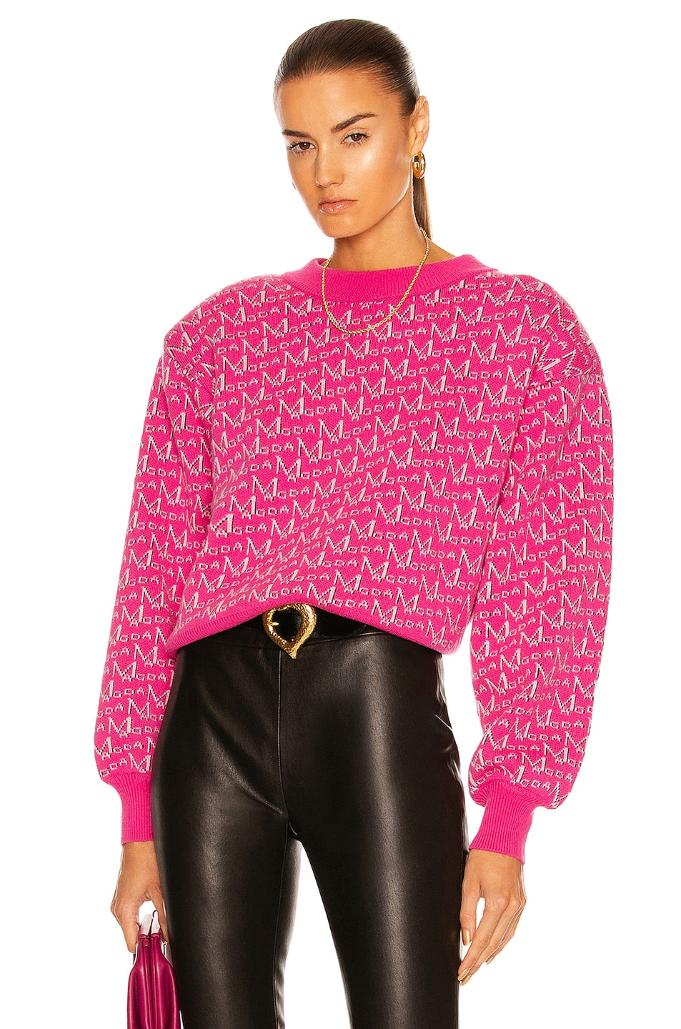 Image 1 of Magda Butrym Logo Sweater in Pink