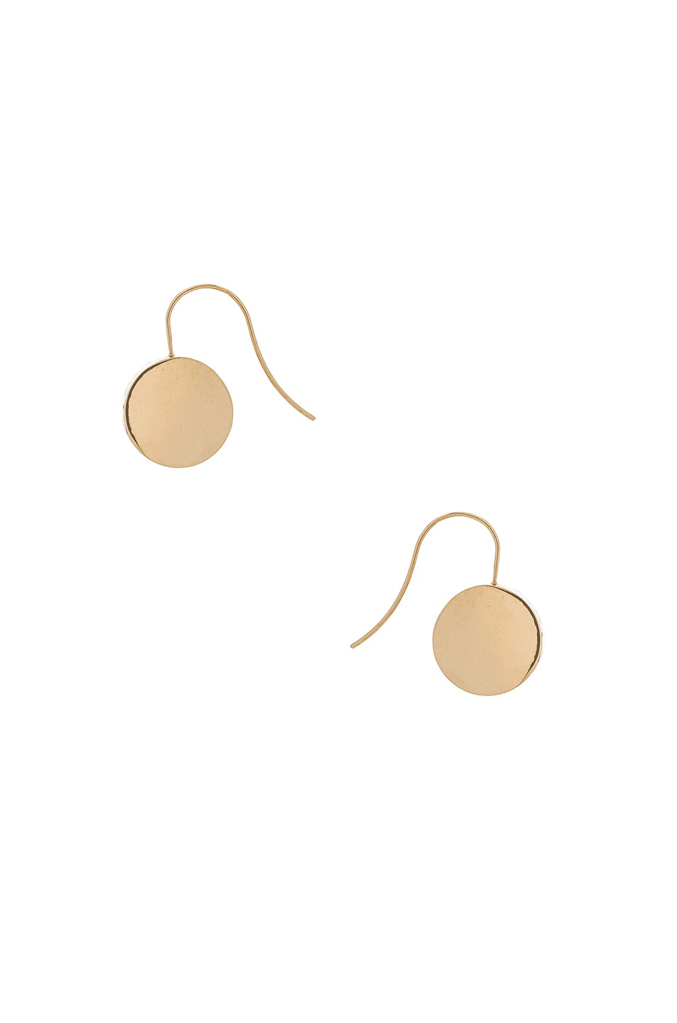 Image 1 of Magda Butrym Thick Small Open Beagle Earrings in Yellow Gold