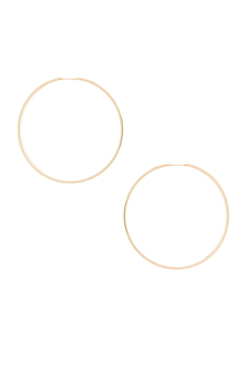 Image 1 of Magda Butrym Medium Hoop Earrings in Yellow Gold