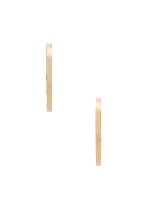 Image 2 of Magda Butrym Medium Hoop Earrings in Yellow Gold