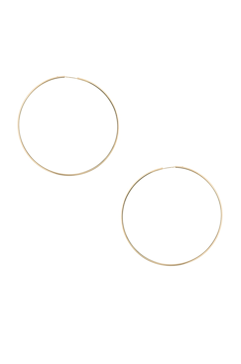 Image 1 of Magda Butrym Large Hoop Earrings in Yellow Gold