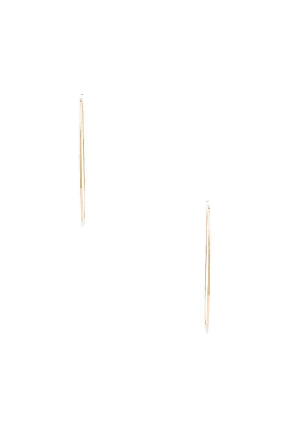 Image 2 of Magda Butrym Large Hoop Earrings in Yellow Gold