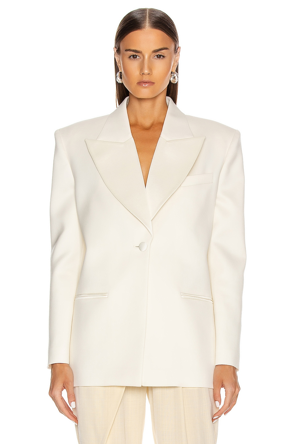 Image 1 of Magda Butrym Exeter Blazer in Cream