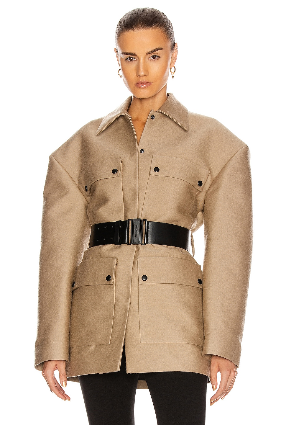 Image 1 of Magda Butrym Utility Coat in Beige