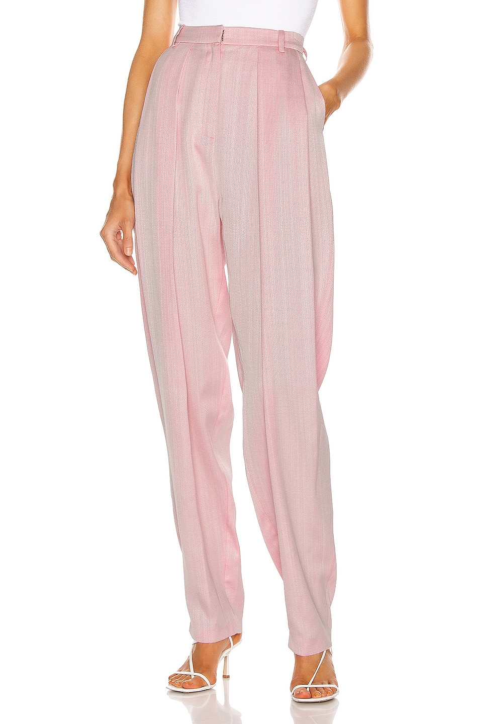 Image 1 of Magda Butrym Pleated Pant in Pink