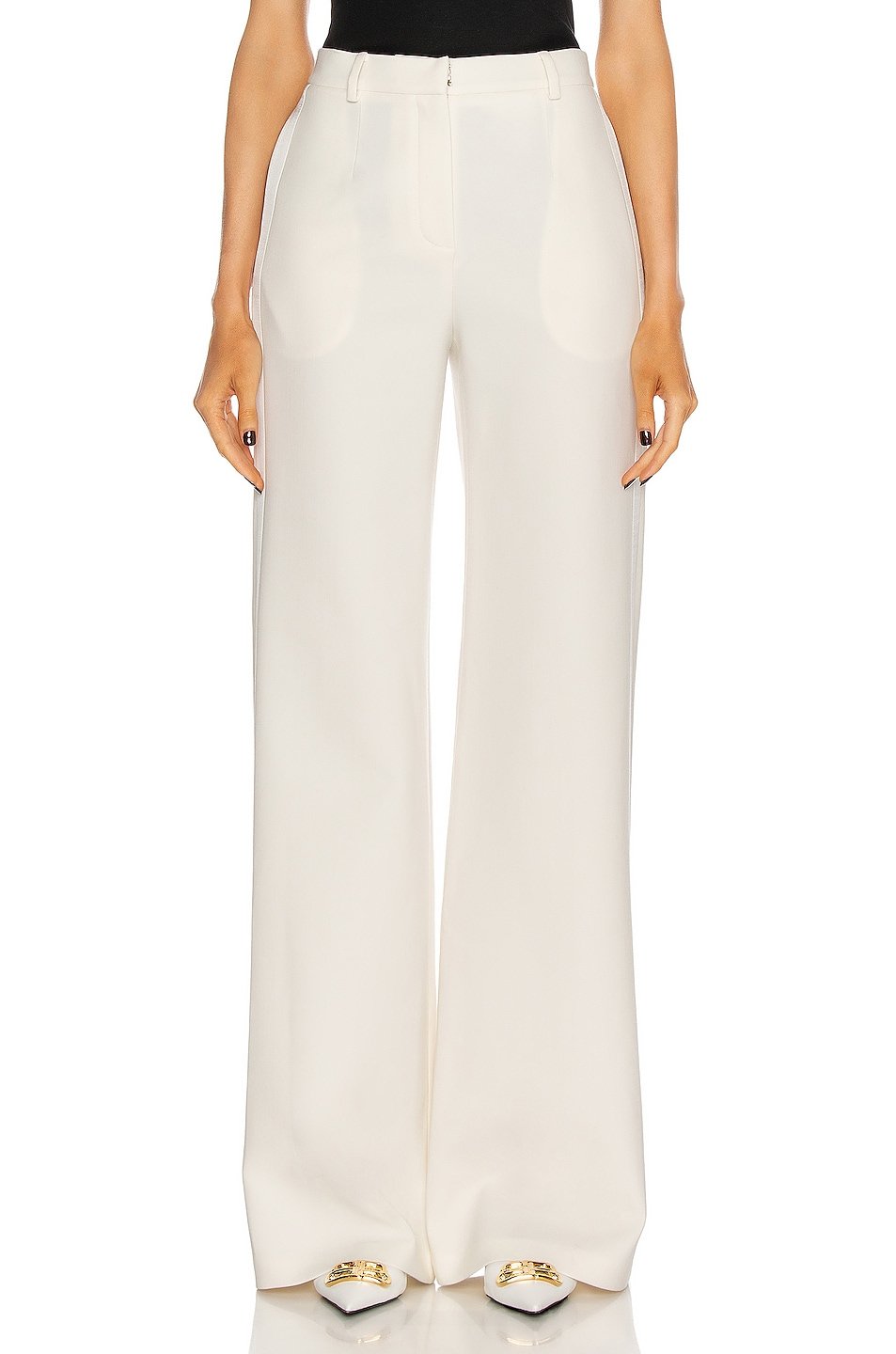 Image 1 of Magda Butrym Wide Leg Pants in Cream