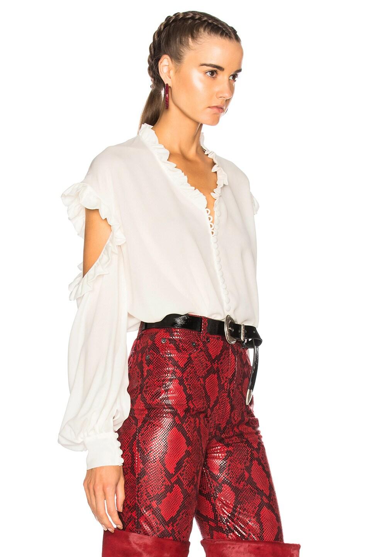 Image 2 of Magda Butrym Forli Blouse in Cream