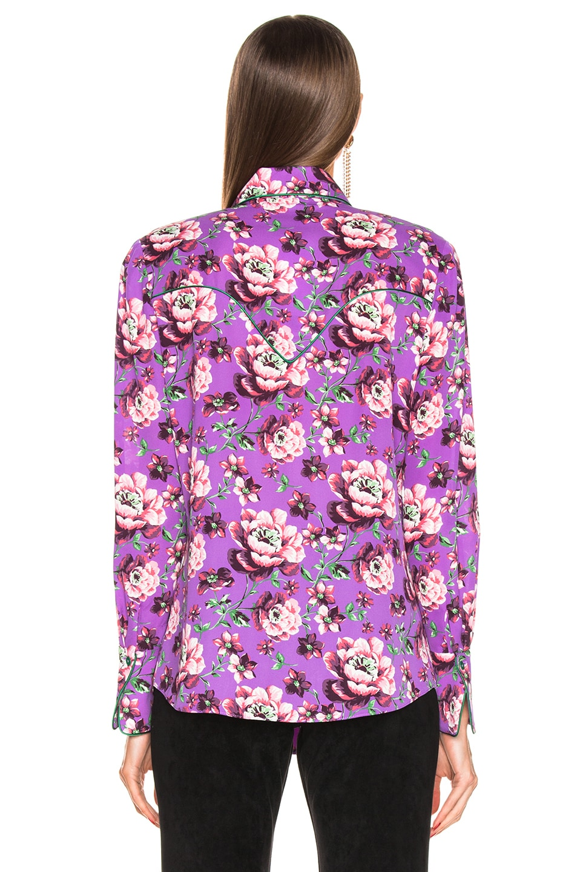 Image 3 of Magda Butrym Dalian Violet Shirt in Violet
