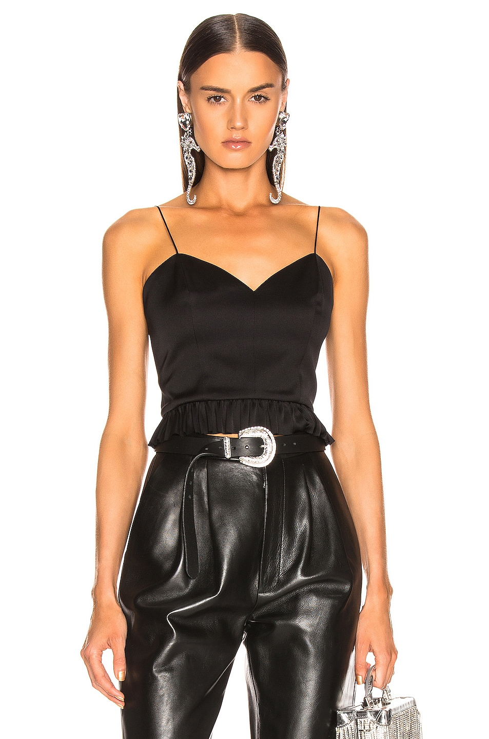 Image 1 of Magda Butrym Rija Corset Blouse in Black