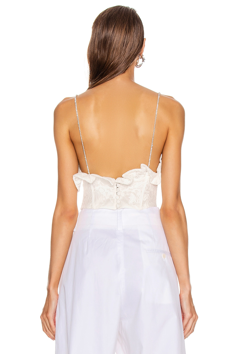 Image 4 of Magda Butrym Harlem Lace Corset Top in White