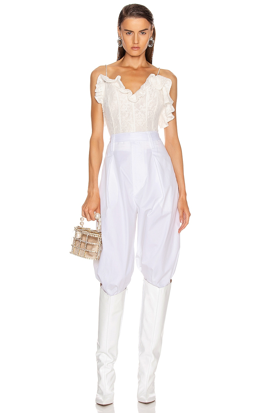 Image 5 of Magda Butrym Harlem Lace Corset Top in White