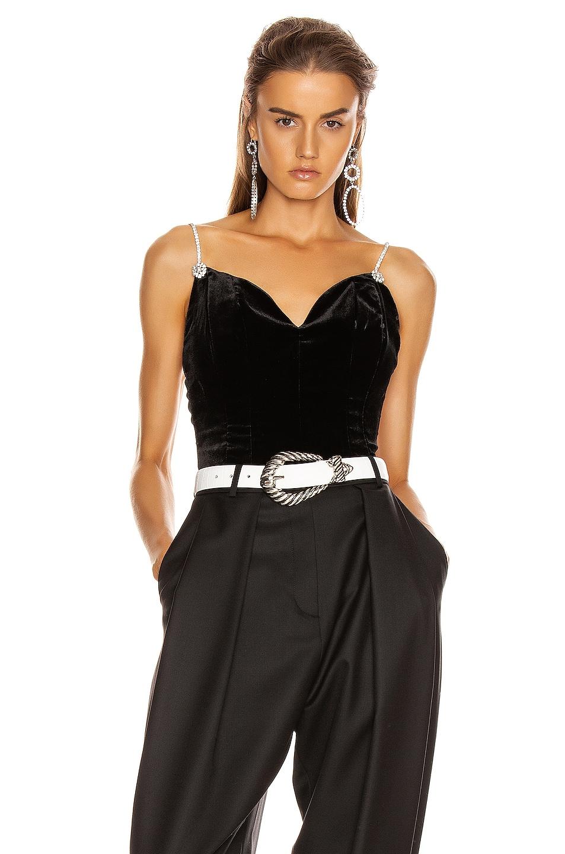 Image 1 of Magda Butrym Georgetown Corset Top in Black