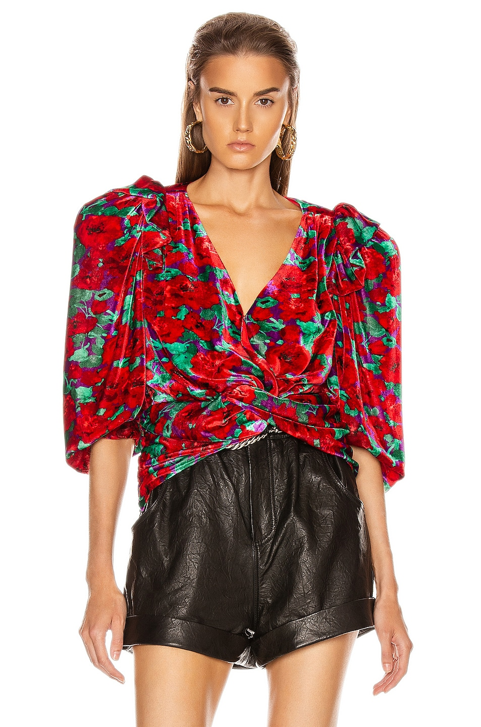 Image 2 of Magda Butrym Toledo Blouse in Red