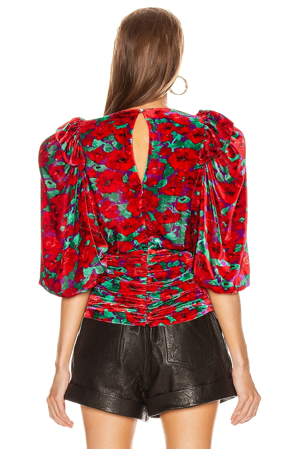 Image 4 of Magda Butrym Toledo Blouse in Red