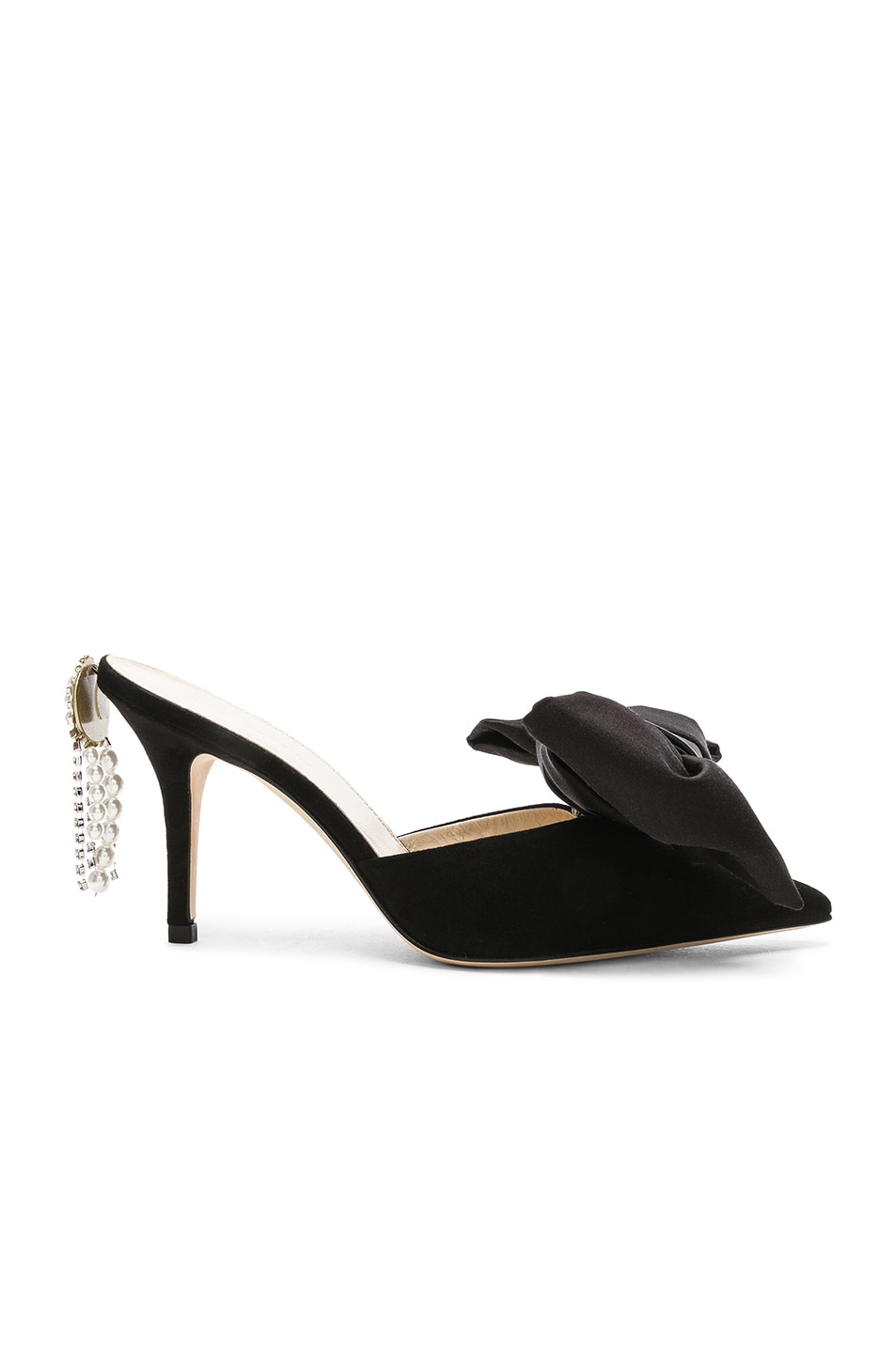 Image 1 of Magda Butrym Suede France Mules in Black