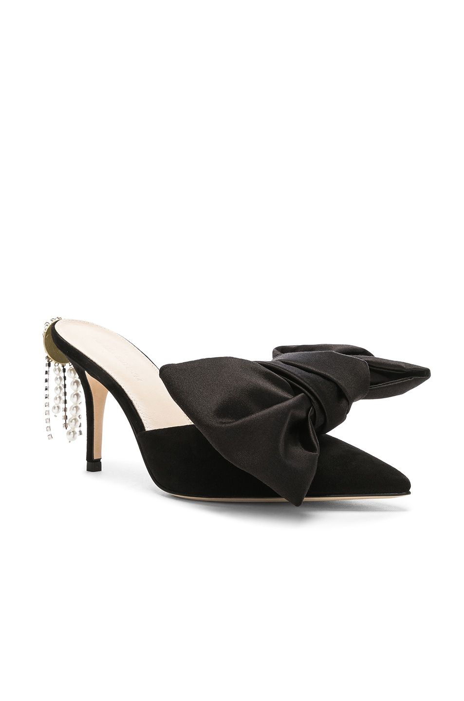 Image 2 of Magda Butrym Suede France Mules in Black
