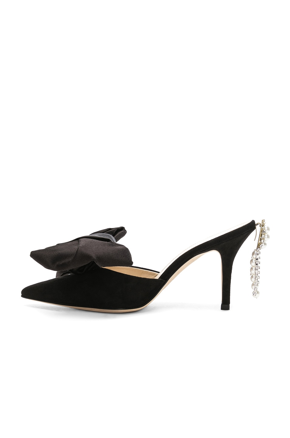 Image 5 of Magda Butrym Suede France Mules in Black