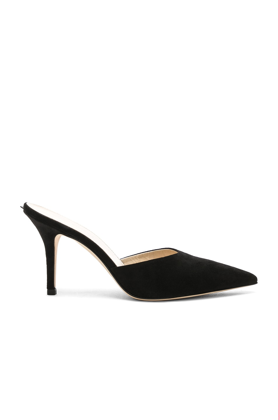 Image 6 of Magda Butrym Suede France Mules in Black