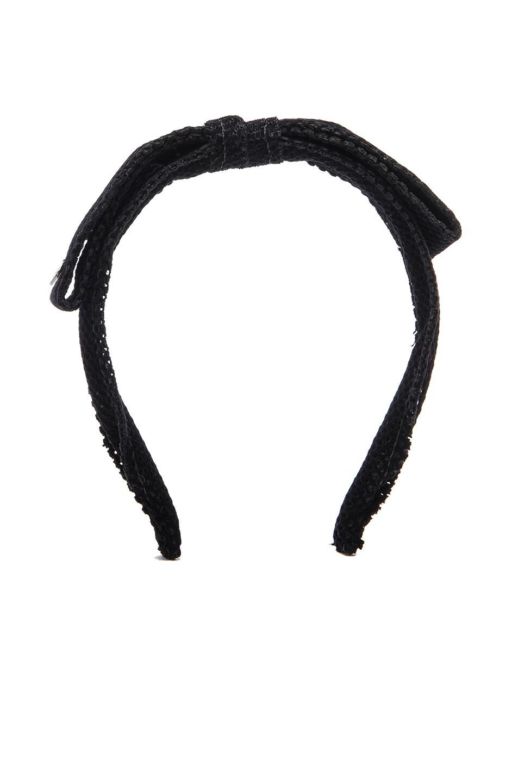 Maison Michel Kety Perforated Headband in Black zjiAa5
