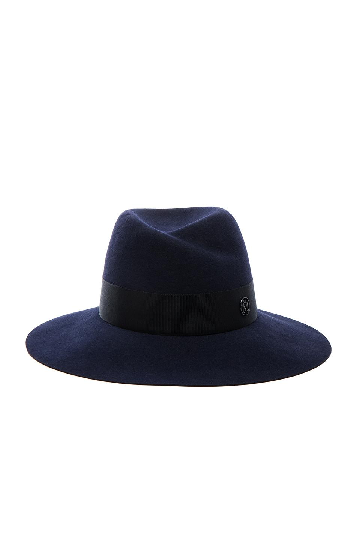 Image 1 of Maison Michel Virginie Felt Hat in Navy