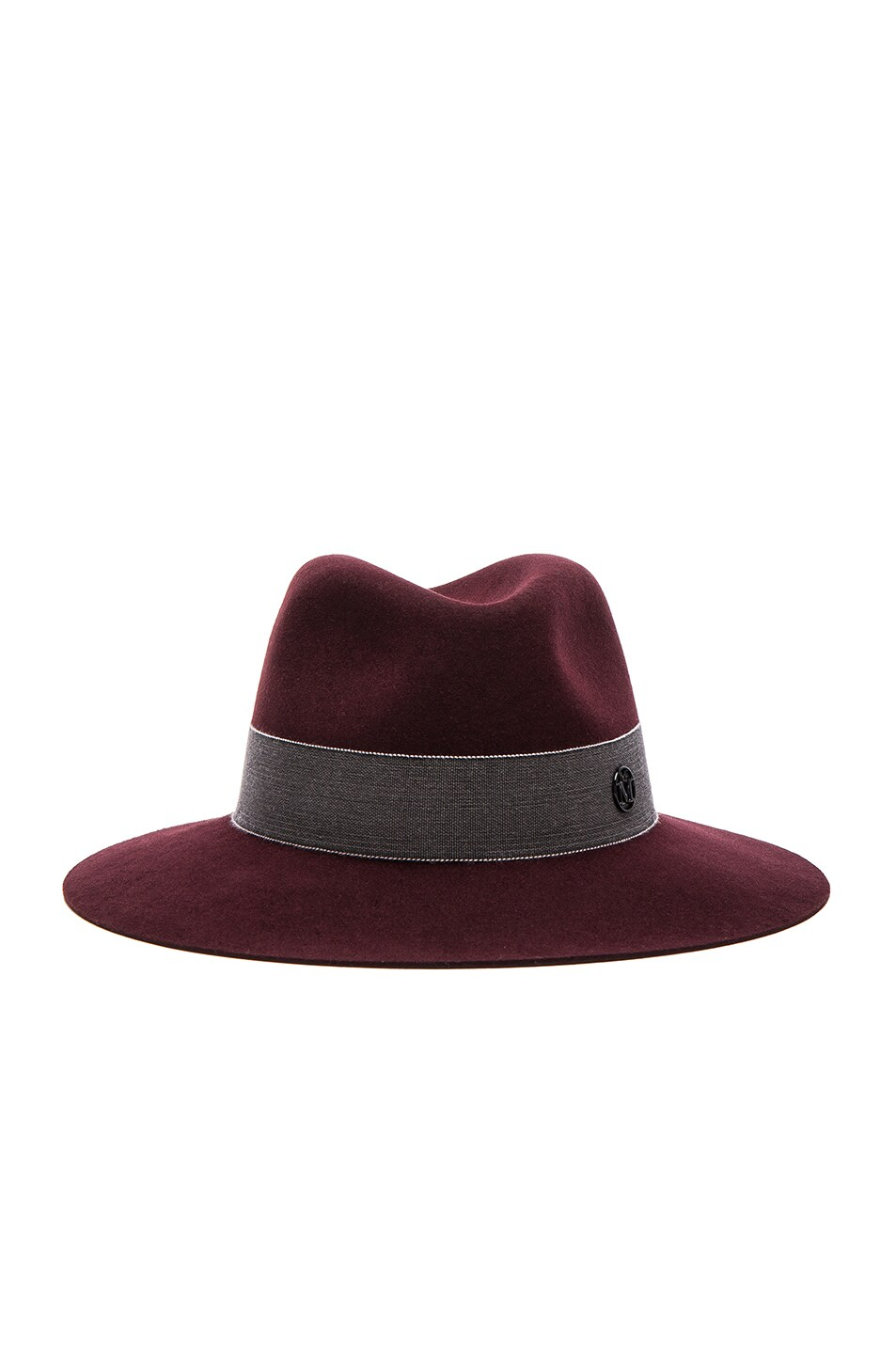 Image 1 of Maison Michel Henrietta Boyfriend Felt Hat in Rouge Noir