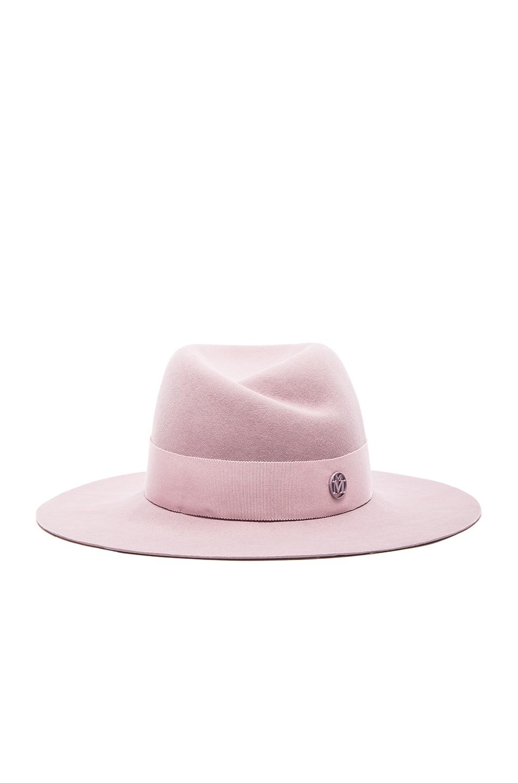 Image 1 of Maison Michel Virginie Large Brim Hat in Shadow Pink 87754042b59