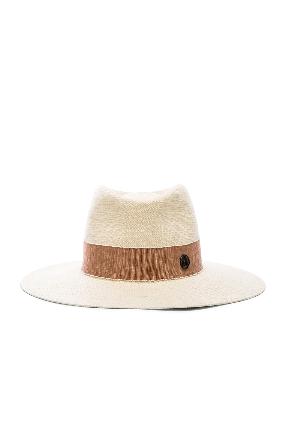 Image 1 of Maison Michel Charles Hat in Natural Beige