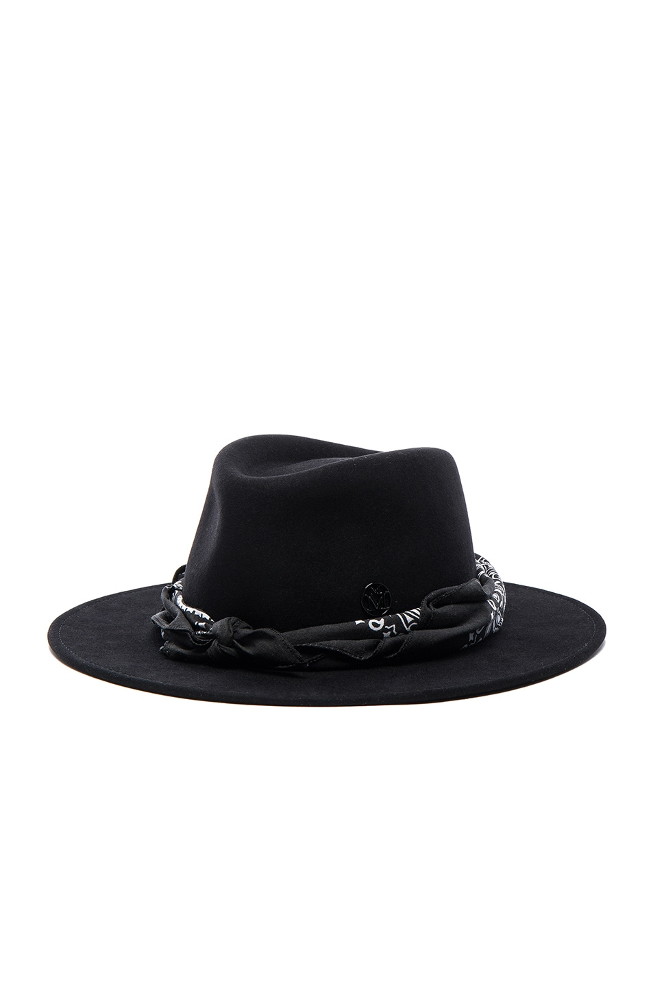 Image 3 of Maison Michel Thadee Masculine Plain Hat in Black