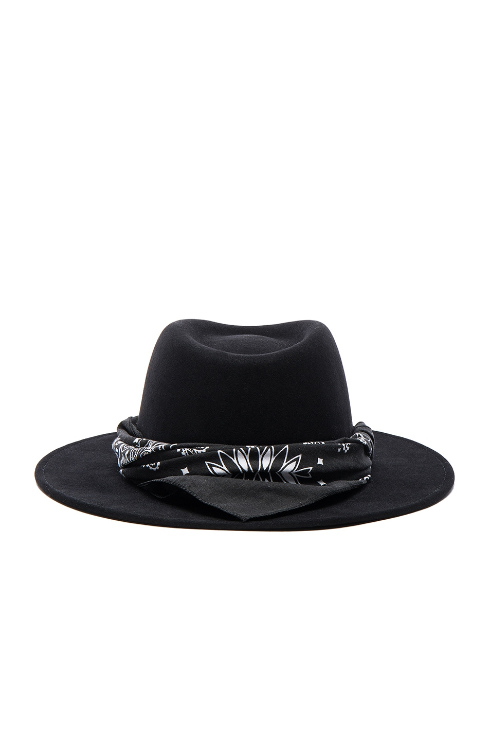 Image 5 of Maison Michel Thadee Masculine Plain Hat in Black