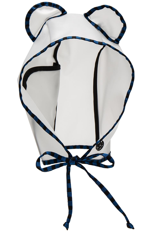 Image 1 of Maison Michel Lara Pocket Rain Mat Cap in Transparent Blue