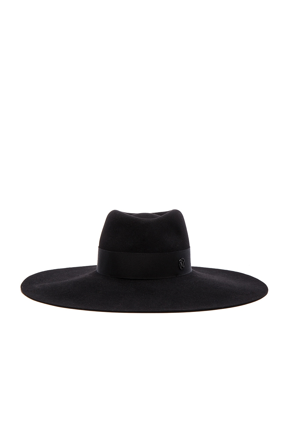 Image 1 of Maison Michel Fara Wide Brim Hat in Black