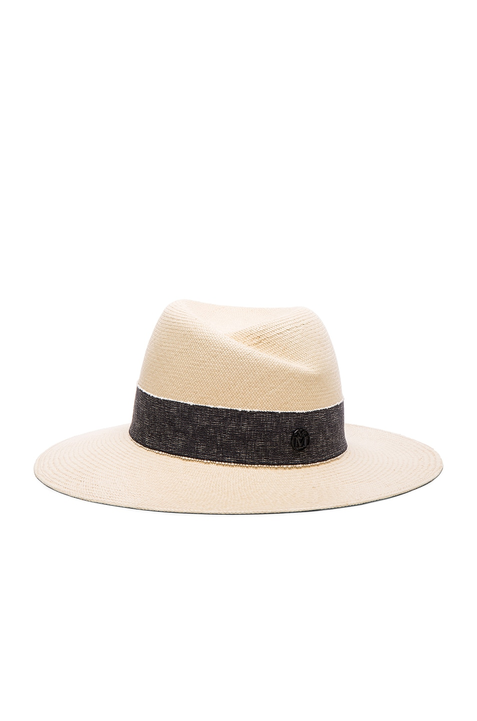 Image 1 of Maison Michel Virginie Hat in Natural Navy
