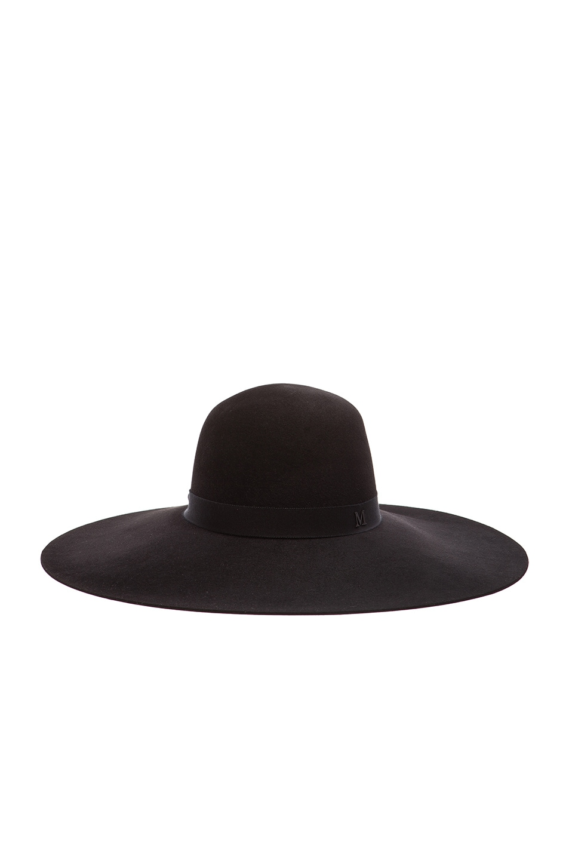 Image 1 of Maison Michel Blanche Classic Capeline Felt Hat in Black