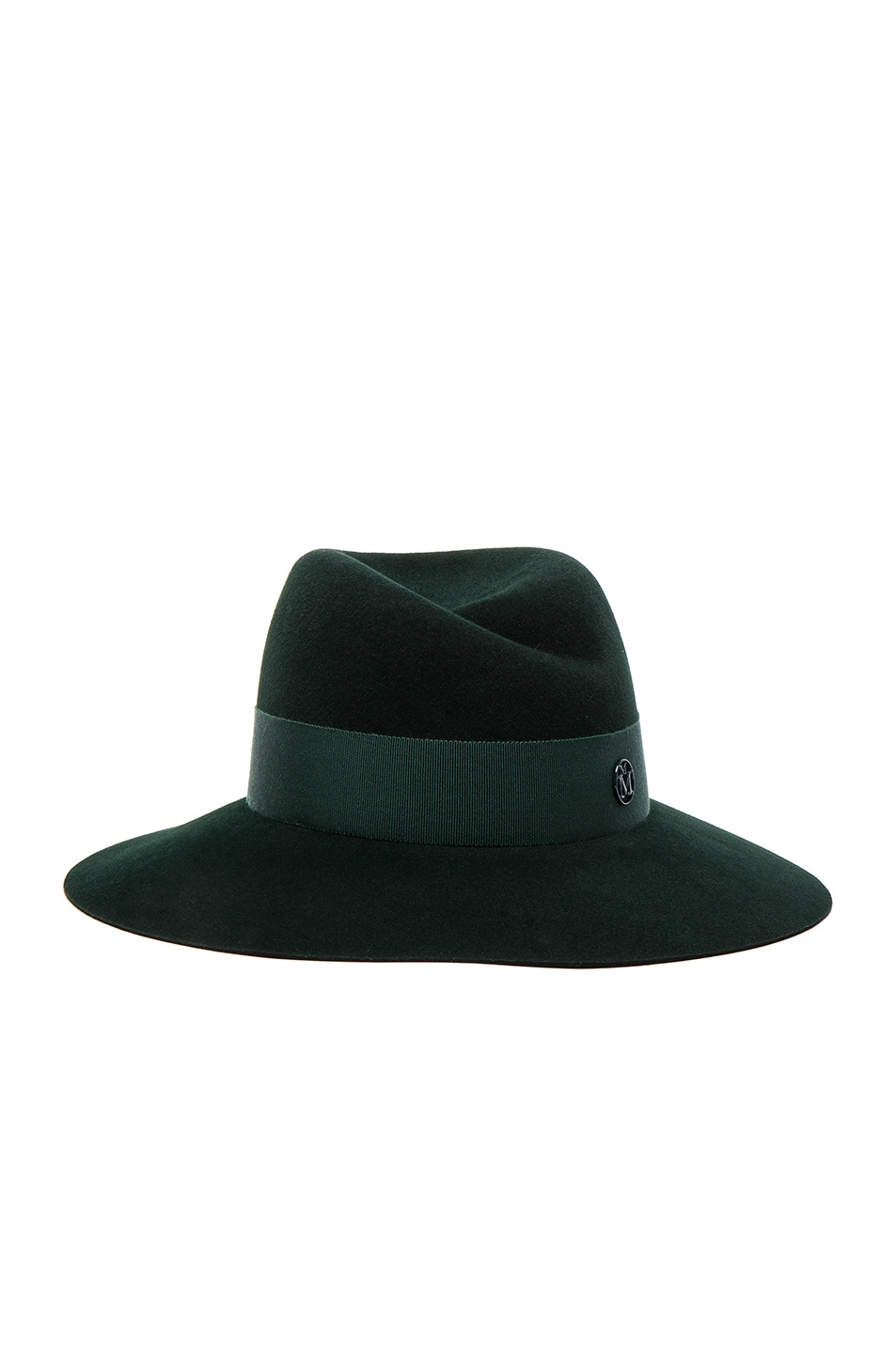 Image 1 of Maison Michel Virginie Hat in Study Green