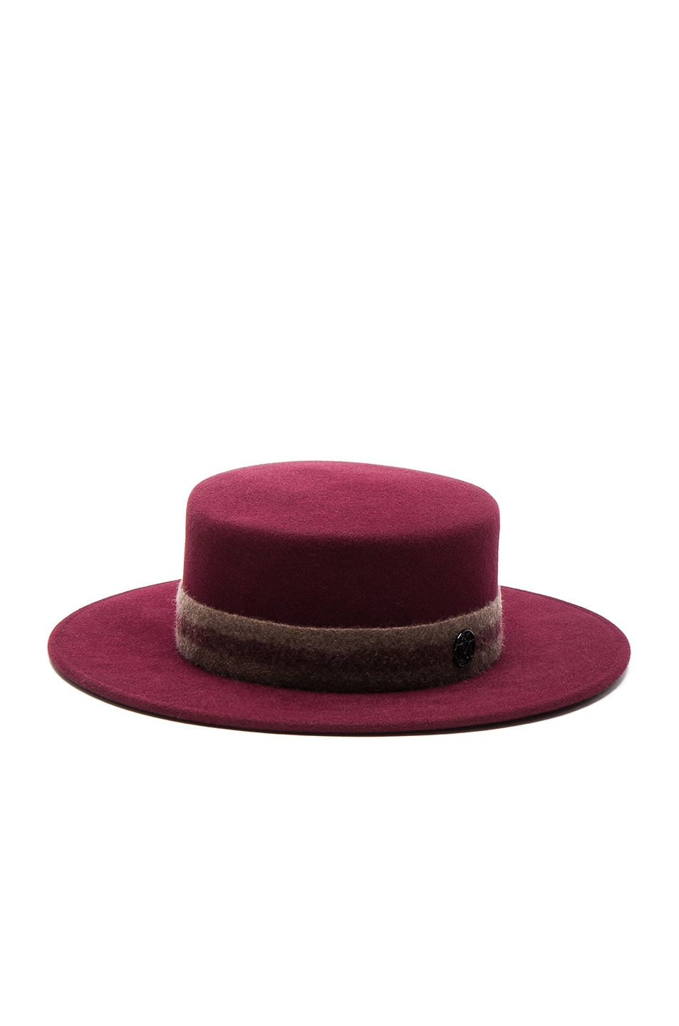 Image 1 of Maison Michel Kiki Hat in Sticky Cherry